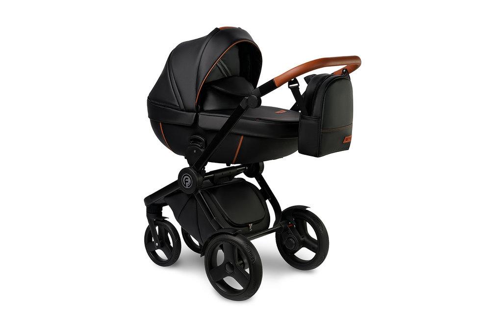 #Verdi Futuro New Cuba Black детская коляска 3 в 1: люлька