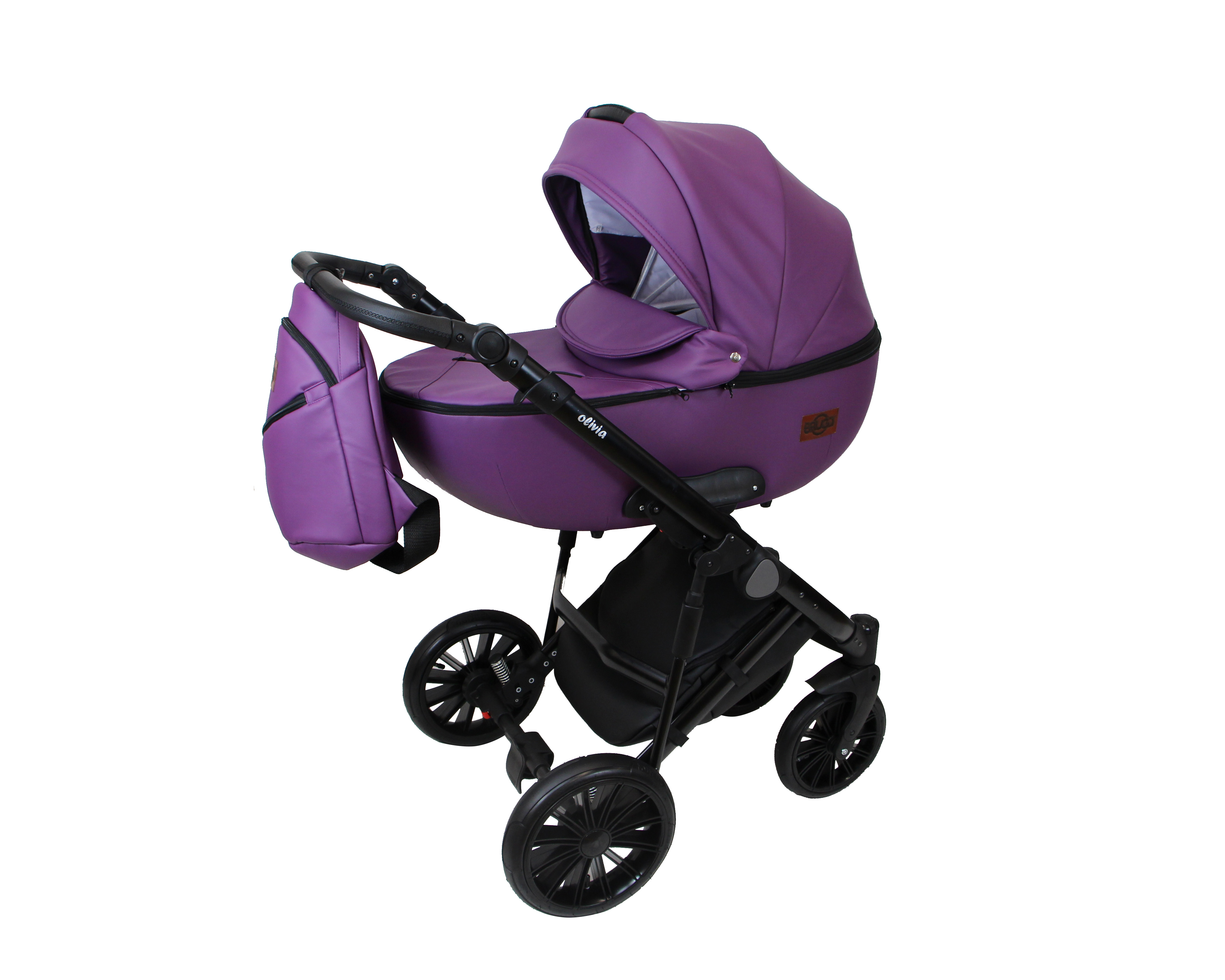 #Bruca Olivia Purple детская коляска 2 в 1
