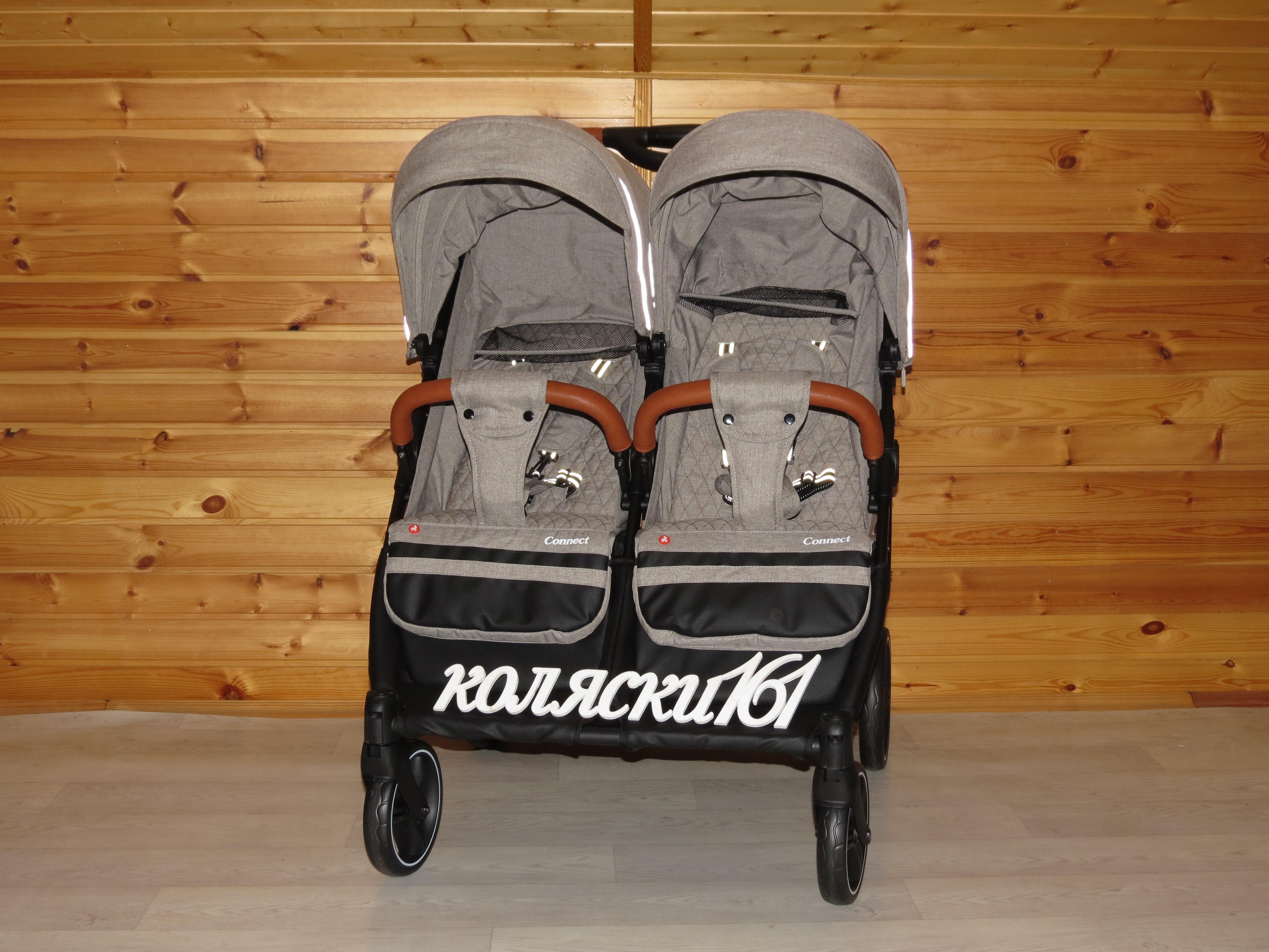 #Carrello Connect детская прогулочная коляска для двойни