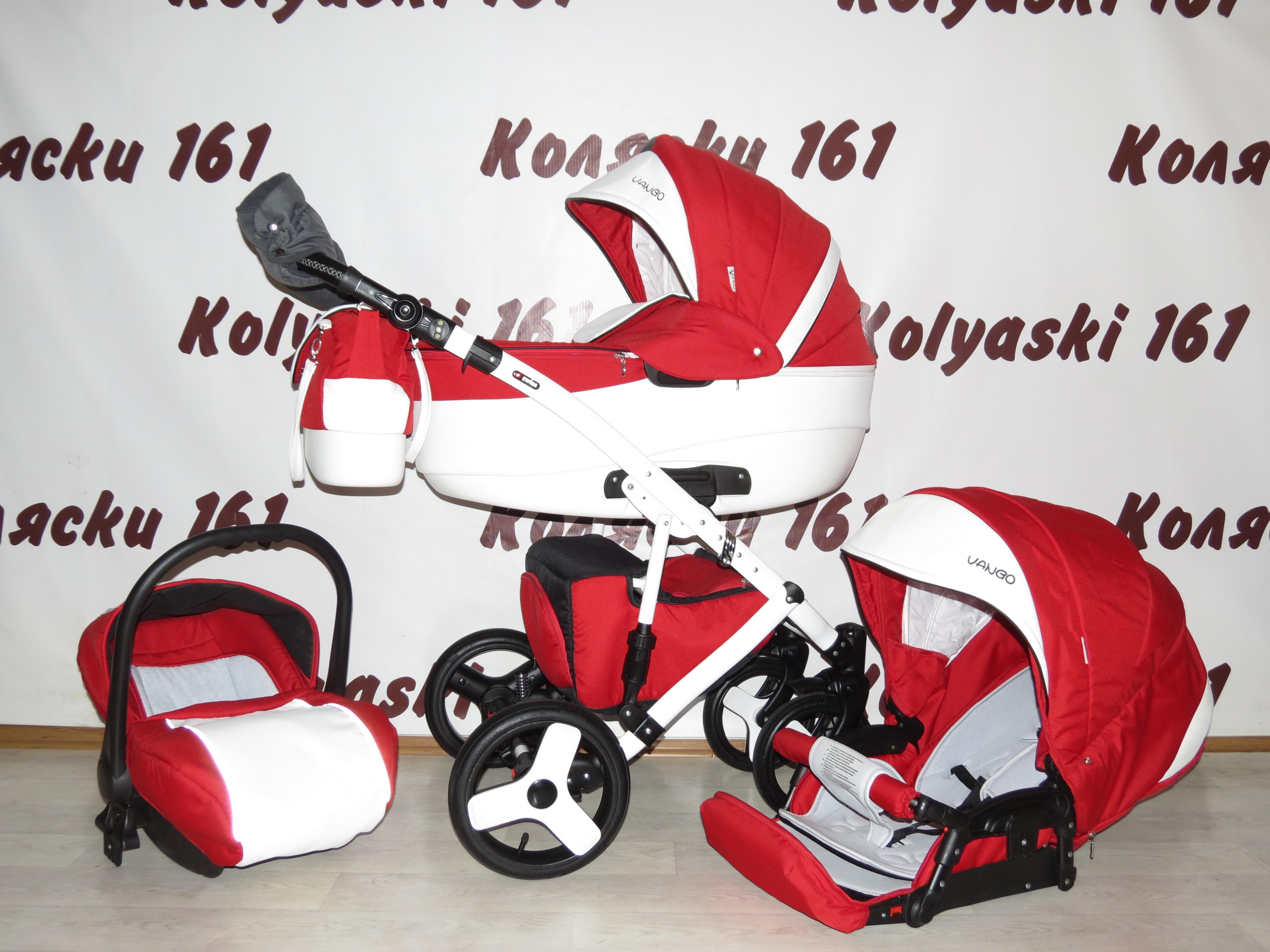 #Verdi Vango детская коляска 3 в 1 Красная с белым