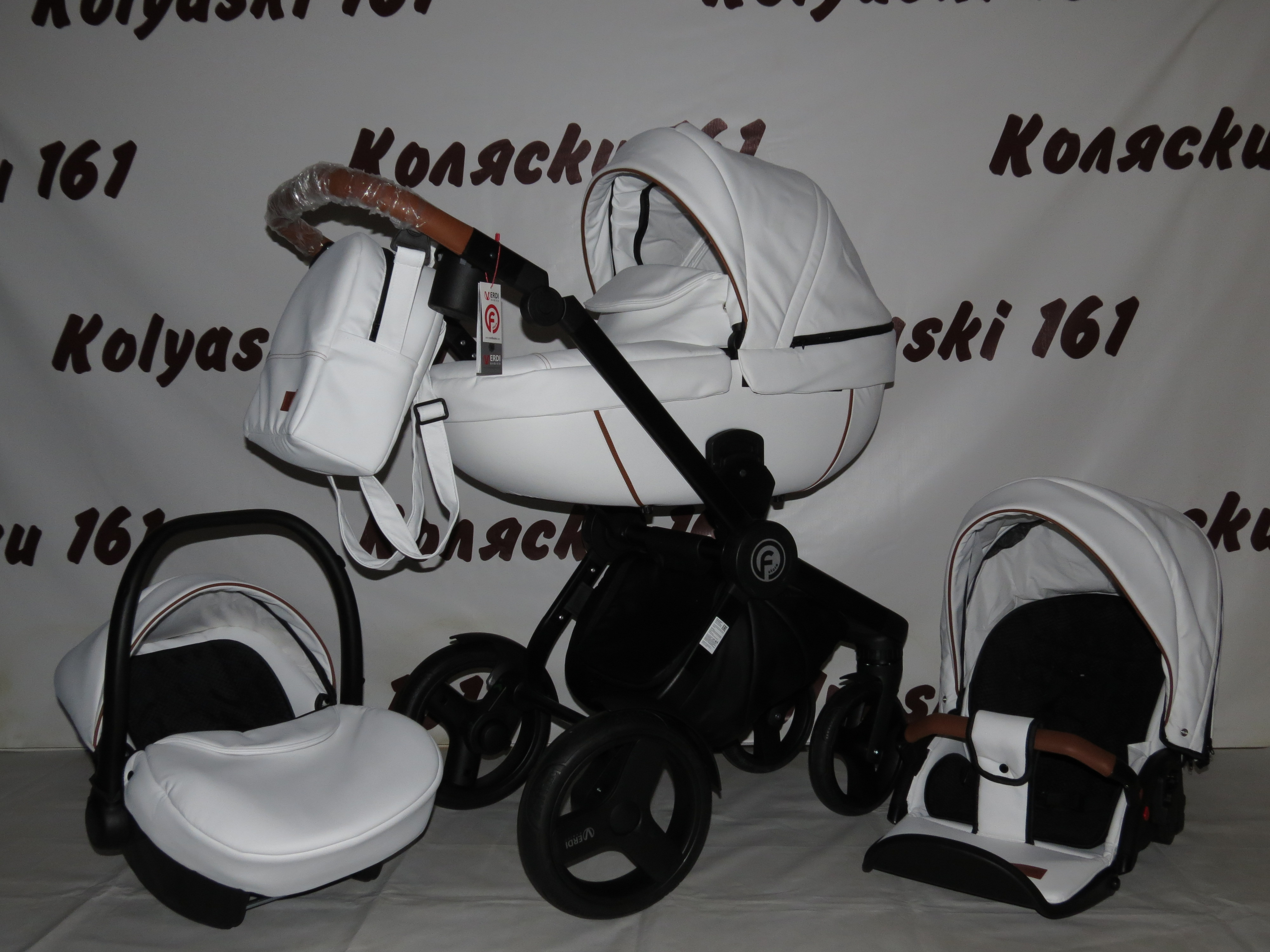 #Verdi Futuro New 3 в 1 детская коляска: люлька, прогулочный блок+авто-люлька