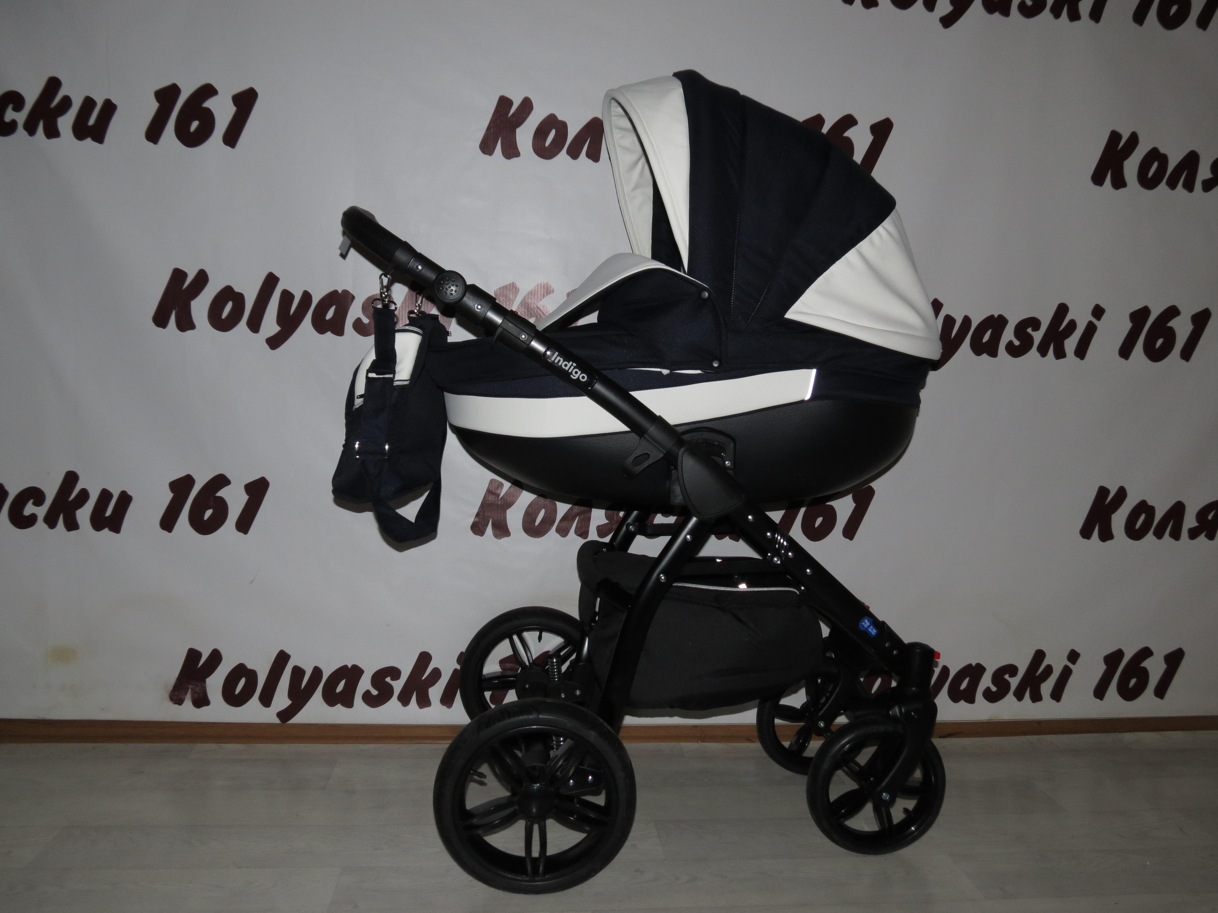 #Indigo Alaska S+F детская коляска 2 в 1: люлька