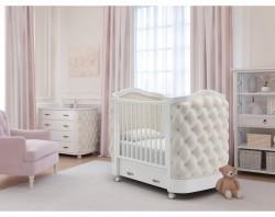 Гандылян Тиффани декор стразы детская кроватка массив бука