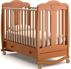 Гандылян Мишель детская кроватка колесо-качалка массив бука