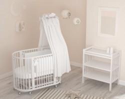 #Гандылян Бэтти детская кроватка белая
