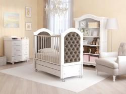 Гандылян Софи Люкс детская кроватка продольный маятник бук