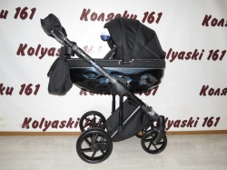 #Bebe-Mobile Castello BC-8 черная детская коляска 2 в 1: люлька