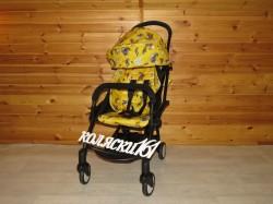 #Yoya Care прогулочная коляска желтая с роботами