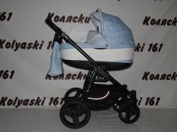 #Jedo Nevo детская коляска 2 в 1 белая в голубой цветок