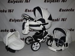#Детская коляска 3 в 1 Indigo Isabil: люлька, прогулочный блок+авто-люлька