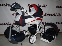 #Adamex Barletta New детская коляска 3 в 1: люлька, прогулочный блок+авто-люлька