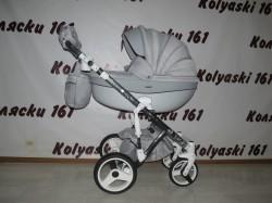 #Adamex Monte Carbon детская коляска 2 в 1 серая