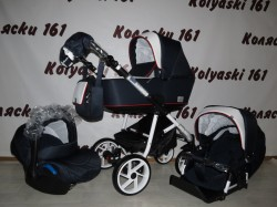 #Bebe-Mobile Gusto Детская коляска 3 в 1: люлька+прогулочный блок+авто-люлька