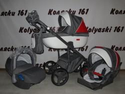 #Adamex Massimo детская коляска 3 в 1: люлька, прогулочный блок+авто-люлька