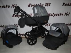 #Bebe-Mobile Gusto детская коляска 3 в 1: люлька, прогулочный блок+авто-люлька