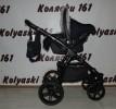#Indigo Alaska S+F детская коляска 3 в 1: авто-люлька